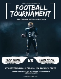 Football Tournament Flyer Video Design
