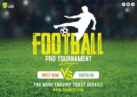 Football Tournament Postcard template