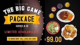 Football Tournament Restaurant Deal Digital Display Video template
