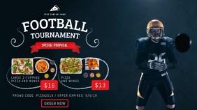 Football Tournament Restaurant Package Digital Display Video