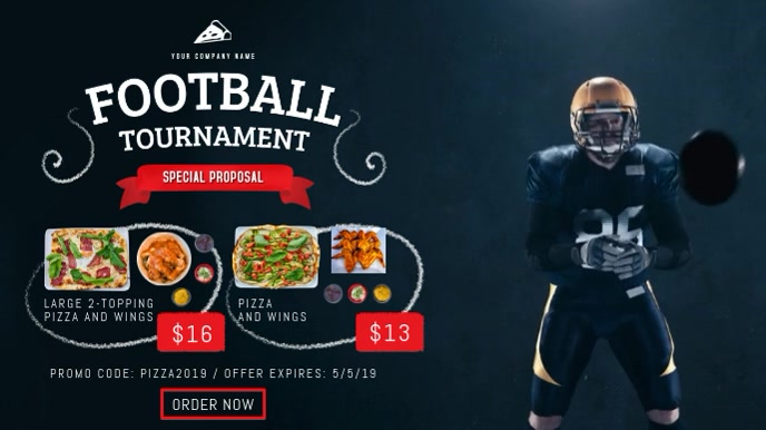Football Tournament Restaurant Package Digital Display Video