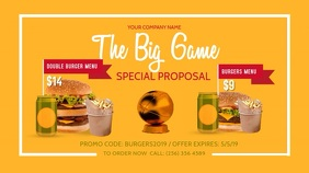 Football Tournament  Restaurant Special Deal Digital Display