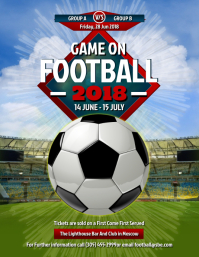 Football Tournament Screening Screening Flyer Templates
