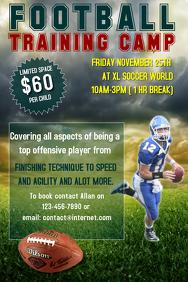 Football training camp flyer template