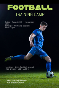 football training camp poster 2