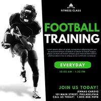 Football training Message Instagram template