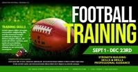 Football training Facebook Gedeelde Prent template