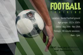 football training poster