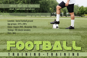 football training poster