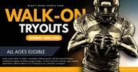 Football Tryouts Facebook 共享图片 template
