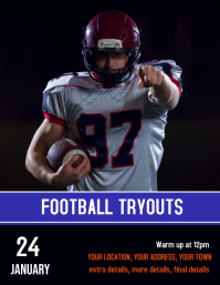 Football team Tryouts poster