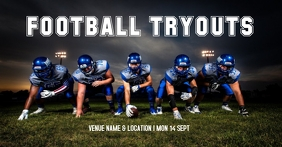 Football tryouts Facebook Shared Image template