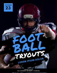 Football Tryouts Flyer Template