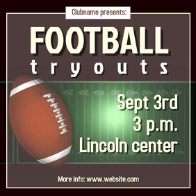 Football tryouts instagram post