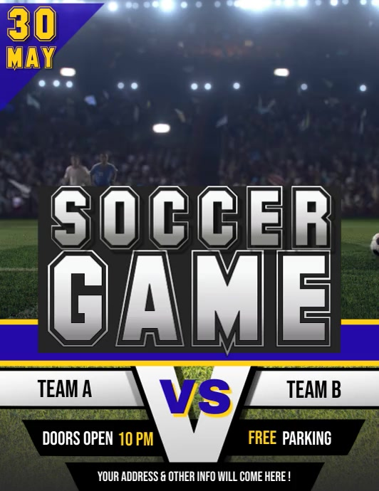 Football Video, Soccer Video, Rugby Flyer (Letter pang-US) template