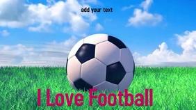 Football video graphic Digital Display (16:9) template