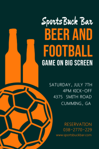 Football Viewing Party Bar Poster Template