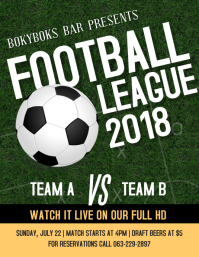 Football Viewing Party Flyer Template