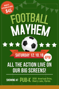 Football Viewing Party Pub Poster Template