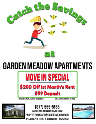 For Rent Apartment Lease Special Deal