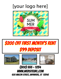 For Rent Apartment Lease Special Deal Summer