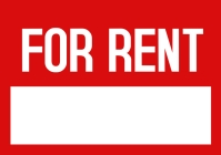 For rent poster template A3