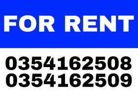For Rent Poster Template A4