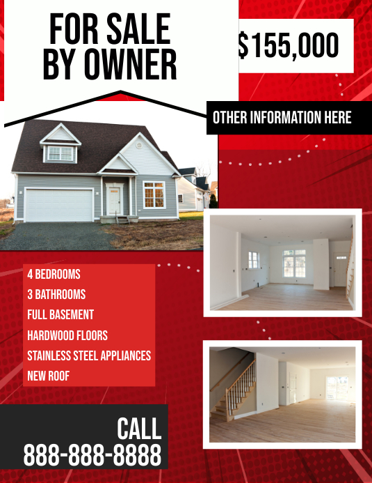 For Sale By Owner Real Estate Flyer