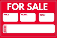 for sale Poster template