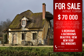 house for sale poster