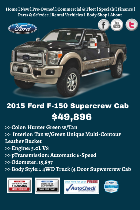 ford truck for sale template postermywall