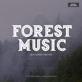 forest album cover template