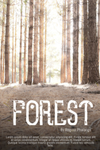 Forest Book Cover Movie Film Template