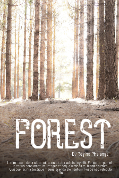 forest book cover movie film template postermywall