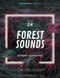 Forest music Flyer Template