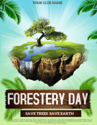 Forestery day flyers template