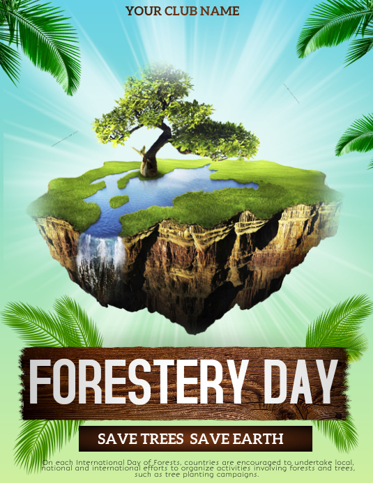 Forestery day flyers Pamflet (Letter AS) template