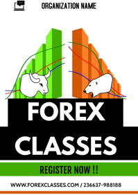 forex flyers A3 template