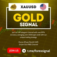 Forex gold signal instagram post template
