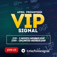 Forex signal instagram post template