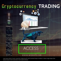 forex trading cryptocurrency Instagram Post template