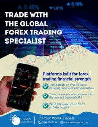 Forex Trading Flyer template