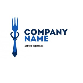 fork and tie blue logo
