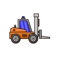 Forklift Logotipo template