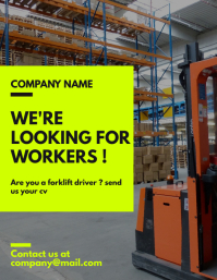 forklift drivers hiring poster