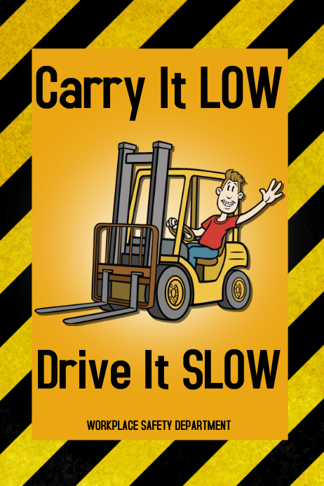 forklift safety poster template