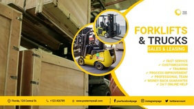 forklifts and trucks facebook cover template Film w tle na Facebooka (16:9)