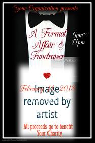 Formal Affair Benefit Poster Template