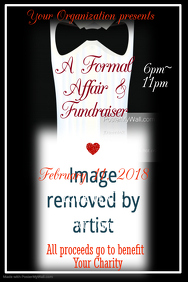 Formal Affair Benefit Poster Template