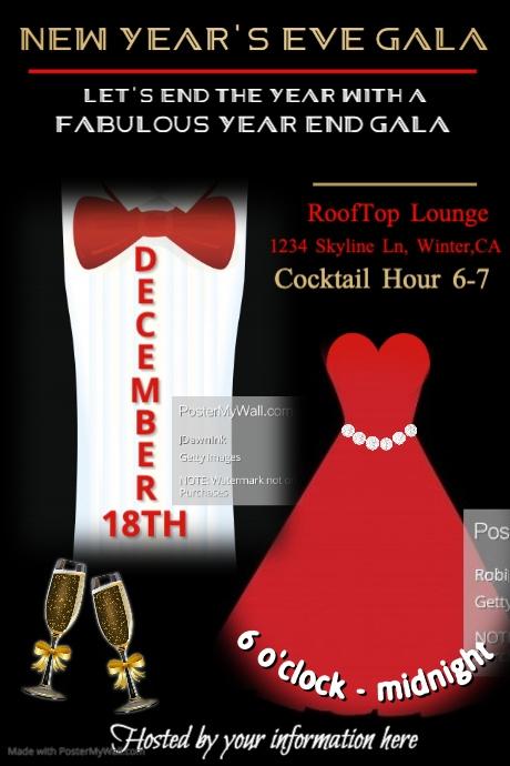 Formal Affair Poster Template